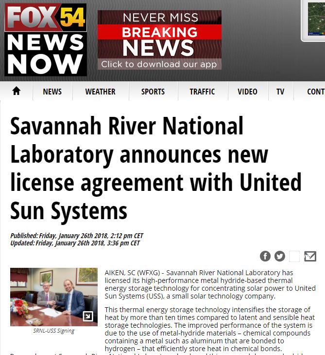 Savannah River National Laboratory Announces New License